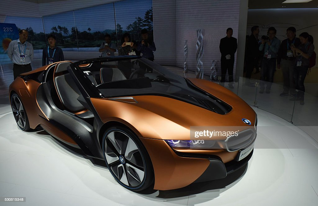 The BMW i Vision Future Interaction is on display during the CES