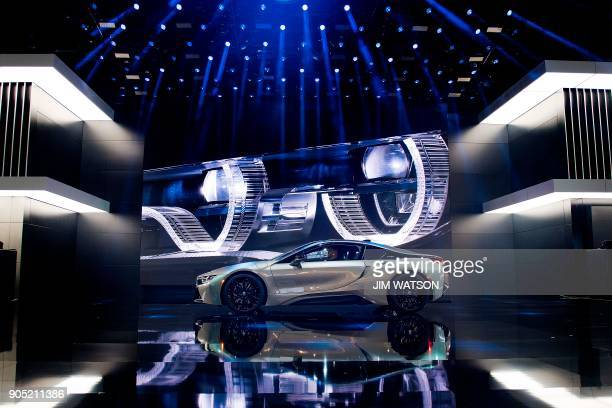The BMW i8 is introduced during the 2018 North American International Auto Show in Detroit Michigan on January 15 2018 The Detroit Auto Show got...