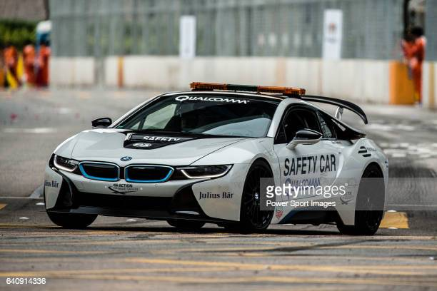 The BMW i8 is used as a safety car for the Formula E race during the first race of the FIA Formula E Championship 201617 season HKT Hong Kong ePrix...