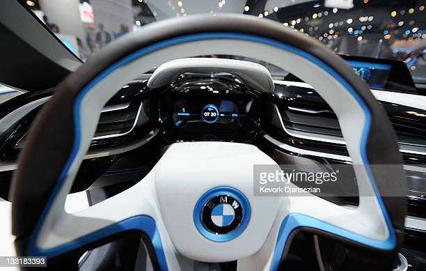 The BMW i8 plugin hybrid allelectric concept car makes its North American debut at the Los Angeles Auto Show on November 17 2011 in Los Angeles...
