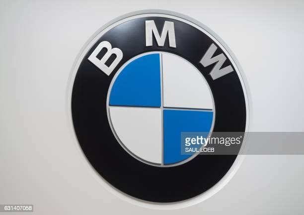 The BMW logo is seen during the 2017 North American International Auto Show in Detroit Michigan January 10 2017 / AFP PHOTO / SAUL LOEB