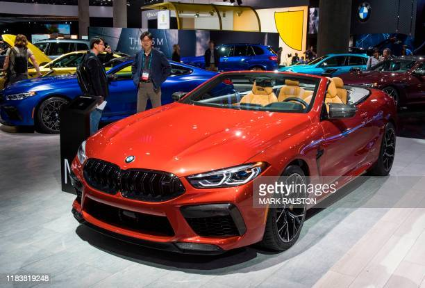 The BMW M8 sports car on display during the AutoMobility LA event, at the 2019 Los Angeles Auto Show in Los Angeles, California on November 21, 2019....