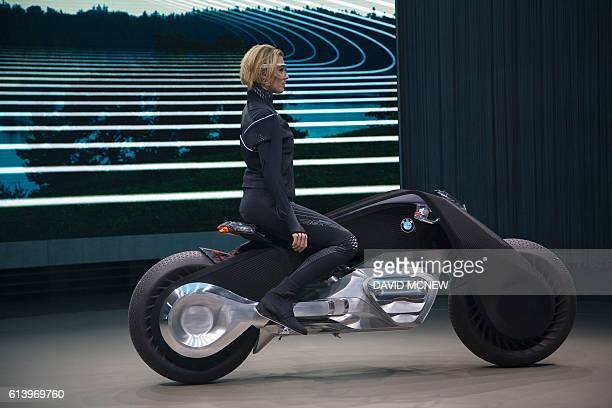 The BMW Motorrad VISION NEXT 100 concept motorcycle is unveiled on the last of four international stops of the Iconic Impulses event recognizing 100...