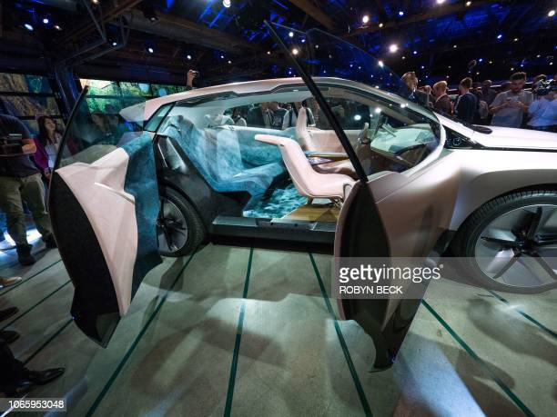The BMW Vision iNEXT is unveiled at a special event ahead of the LA Auto Show November 27 2018 in Los Angeles The BMW Vision iNEXT is fully electric...