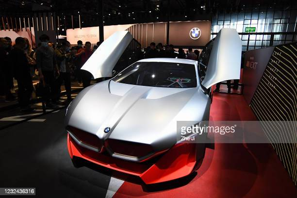 The BMW Vision Next concept electric car is on displayed during the 19th Shanghai International Automobile Industry Exhibition, also known as Auto...