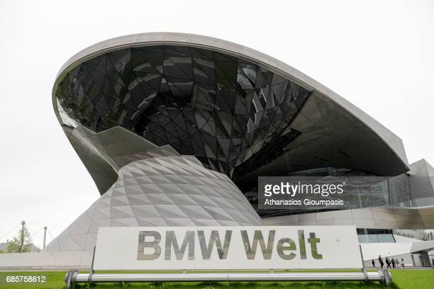 The BMW Welt or BMW World on April 15 2017 in Munich Germany BMW Welt or BMW World is a multiuse exhibition center used for meetings and promotional...