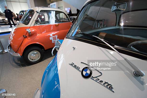 The BMW world of BMW AG in Munich The picture shows the BMW Isetta cult car