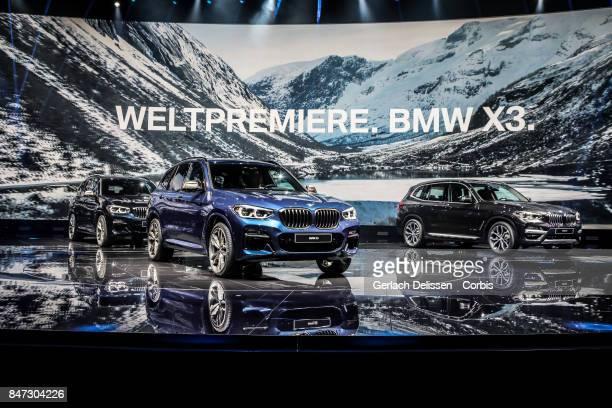 The BMW X3 on display at the 2017 Frankfurt Auto Show 'Internationale Automobil Ausstellung' on September 13 2017 in Frankfurt am Main Germany