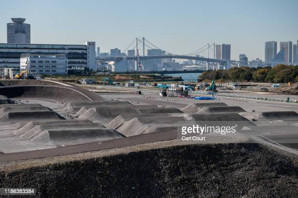 The BMX track which will form part of the Ariake Urban Sports Park for the 2020 Olympics is pictured on December 4, 2019 in Tokyo, Japan.