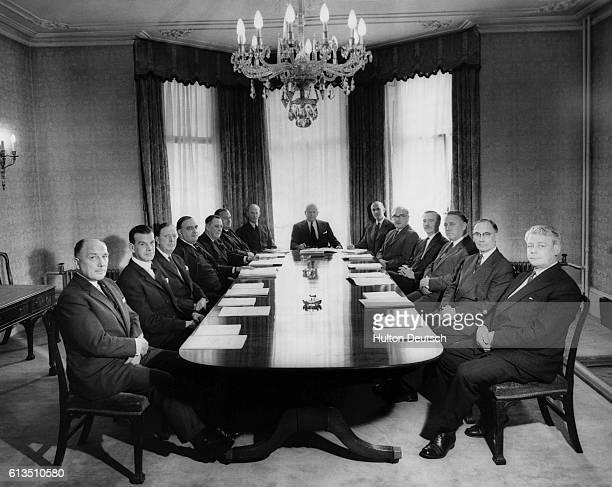 The Board of Directors of Fisons Ltd makers of fertilisers etc in the boardroom taken 1960