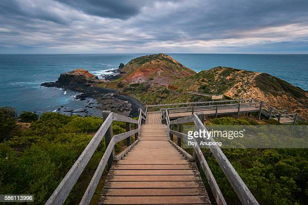 The boardwalk in Cape Schanck of Mornington Peninsula, Australia.