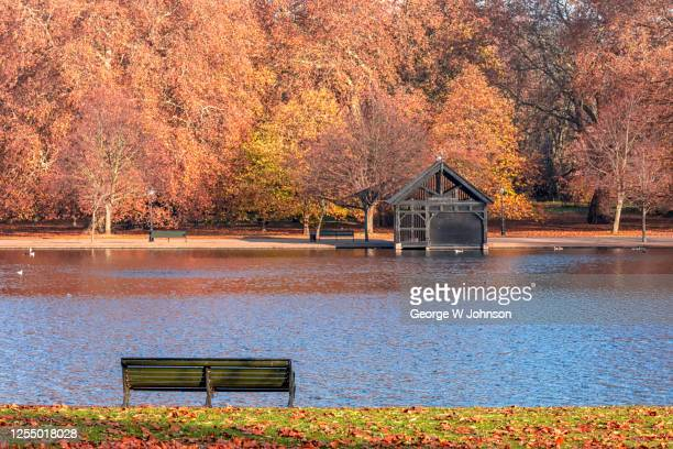 the boathouse - autumn stock pictures, royalty-free photos & images