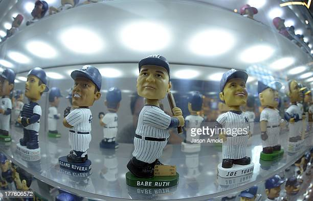 The Bobble Head Museum at Marlins Park is seen during a game between the Miami Marlins andthe Colorado Rockies at Marlins Park on August 24 2013 in...