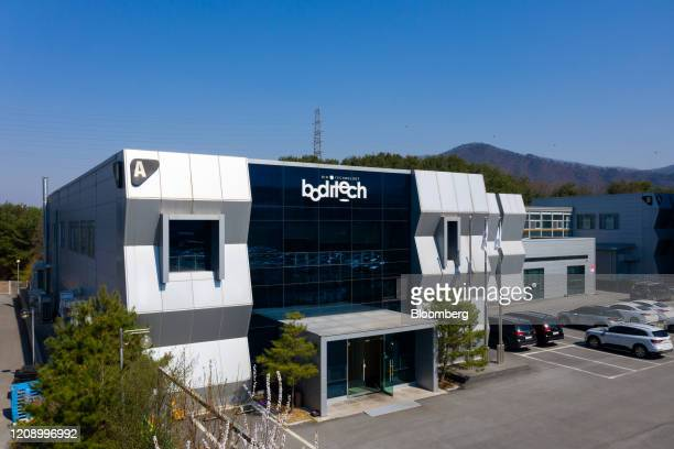 The Boditech Med Inc headquarters stand in Chuncheon South Korea on Friday April 3 2020 South Korean President Moon Jaein said on March 25 that the...