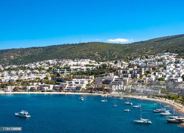 the bodrum harbor - aegean sea stock pictures, royalty-free photos & images