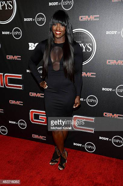 The Body Athlete Aja Evans attends the Body at ESPYS PreParty at Lure on July 15 2014 in Hollywood California