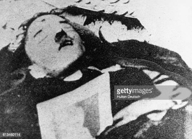The body claimed to be that of the German dictator Adolf Hitler after he had shot himself to prevent capture by Russian troops
