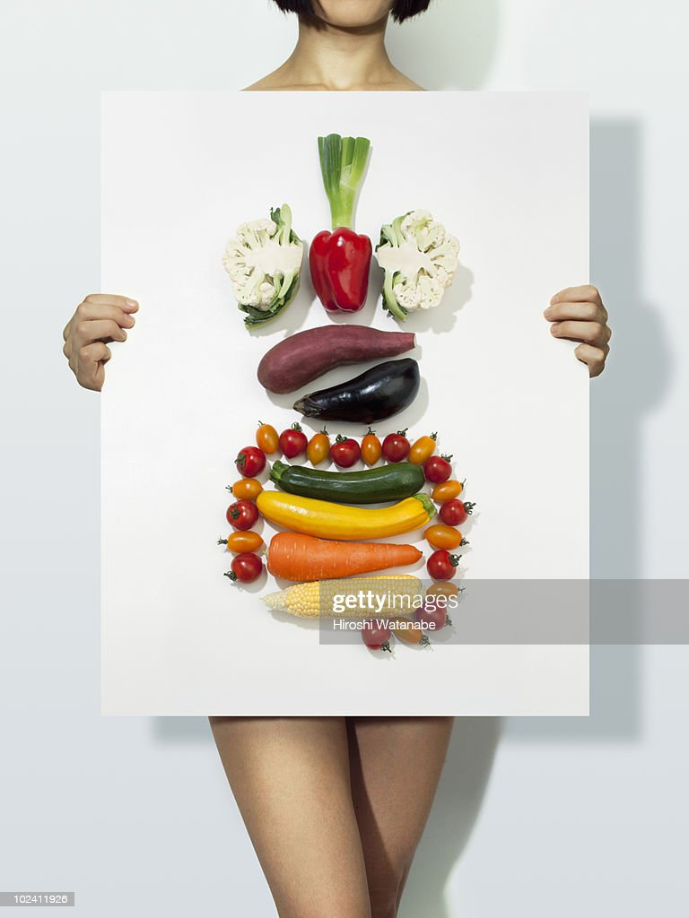 The body made with vegetables  : Stock Photo