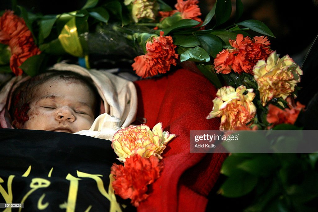 Baby's Funeral Held After Israeli Operation : News Photo