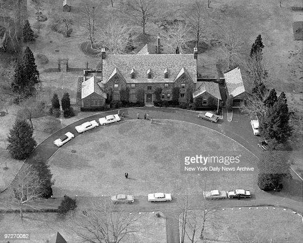 The body of Abner Longie Zwillman is removed from his palatial 20room English type masion in West Orange NJ where he was found by his wife hanging...