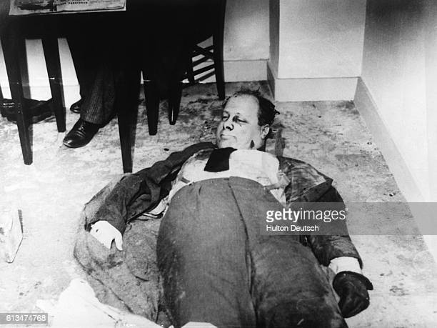 The body of Carlo Roselli the chief enemy of Mussolini found murdered with his brother in France | Location Couterne Orne Department France