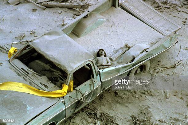 The body of eightyearold Andy Karr lies in the back of a truck covered in volcanic ash May 23 1980 after the Mount St Helens eruption in Mount St...