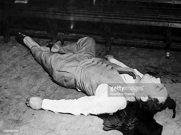 The Body Of Jack Mac Gurn The Brain Of The Valentine'S Massacre In Chicago Usa On February 14 1936