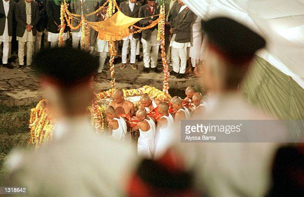 The body of Nepal''s King Dipendra is cremated June 4 2001 in Katmandu Nepal Dipendra and eight members of the royal family were killed June 1 2001...
