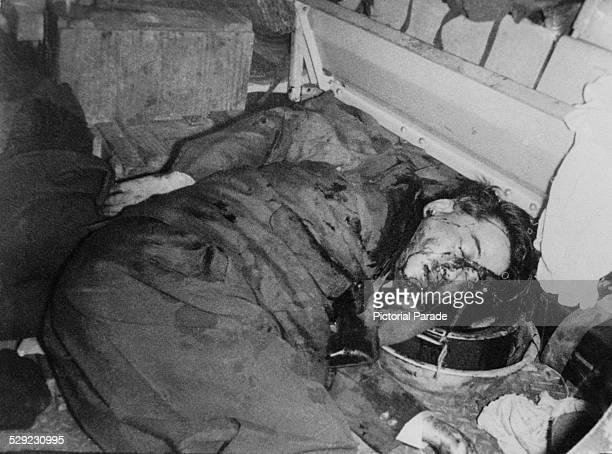 The body of Ngo Dinh Diem former president of South Vietnam in an armoured personnel carrier after his assassination in a CIAbacked coup led by...