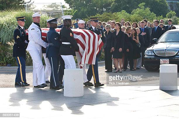 The body of Senator Edward M Kennedy arrives at the John F Kennedy Library in the Dorchester section of the city of Boston MA on August 27 2009...