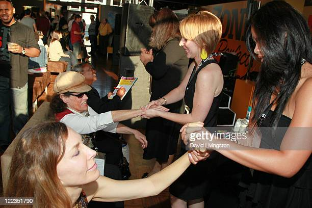 The Body Shop gives free hand massages during The Body Shop Mini Hand Massage Station during the 2010 Los Angeles Film Festival at ZonePerfect...