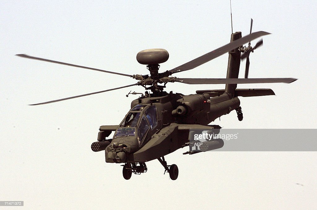 The Boeing AH-64D Apache helicopter take : News Photo