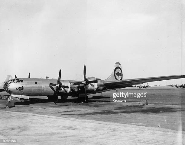 The Enola Gay the B29 bomber which dropped the first atomic bomb on Hiroshima during World War II now at Roswell Army Airfield in New Mexico