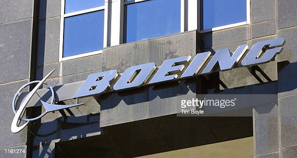 The Boeing Co. Logo is on display September 4, 2001 on the new Boeing World Headquarters building in Chicago. Reacting to commercial airlines that...