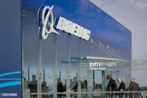 The Boeing hospitality chalet at the Farnborough Airshow on 16th July 2018 in Farnborough England