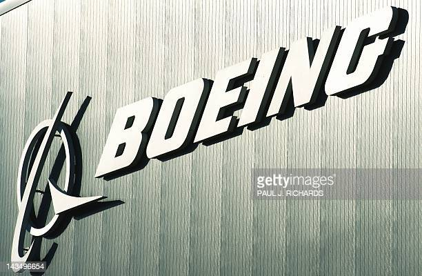 The Boeing logo and name are seen on a building at Boeing's new facilities April 27 in North Charlston South Carolina Boeing rolledoff it's first...