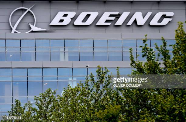 The Boeing regional headquarters is seen amid the coronavirus pandemic on April 29 in Arlington, Virginia. - Boeing announced sweeping cost-cutting...