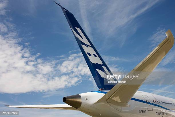 The Boeingmanufactured 787 Dreamliner at the Farnborough Airshow On its first flight outside of the US during its testing programme the newest...