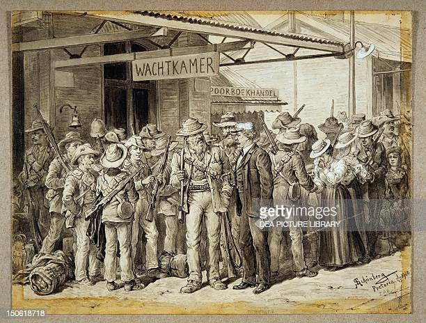 The Boers leaving Pretoria for Ladysmith Schonberg Second AngloBoer South African 20th century