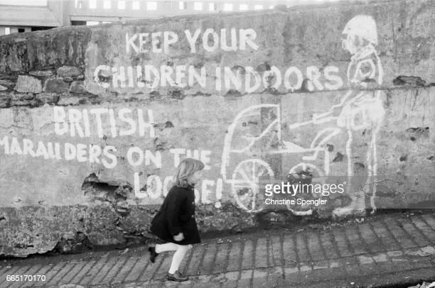 The Bogside is a nationalist neighborhood outside the city walls of Derry