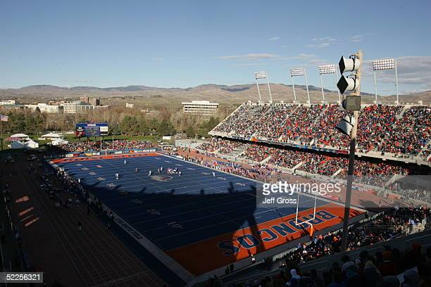 The Boise State Broncos face the Louisiana Tech Bulldogs at Bronco Stadium on November 20 2004 in Boise Idaho Boise State defeated Louisiana Tech 5514