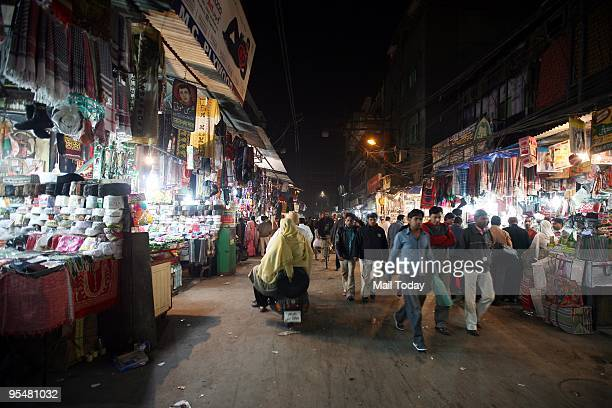 The boisterous lanes around Jama Masjid like this lane Matia Mahal street can be seen in New Delhi on Tuesday December 22 2009