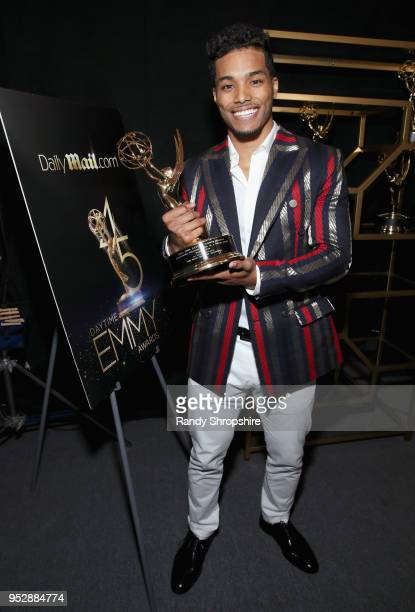 'The Bold and the Beautiful' actor Rome Flynn winner of Outstanding Younger Actor In A Drama Series attends the DailyMailcom DailyMailTV Trophy Room...