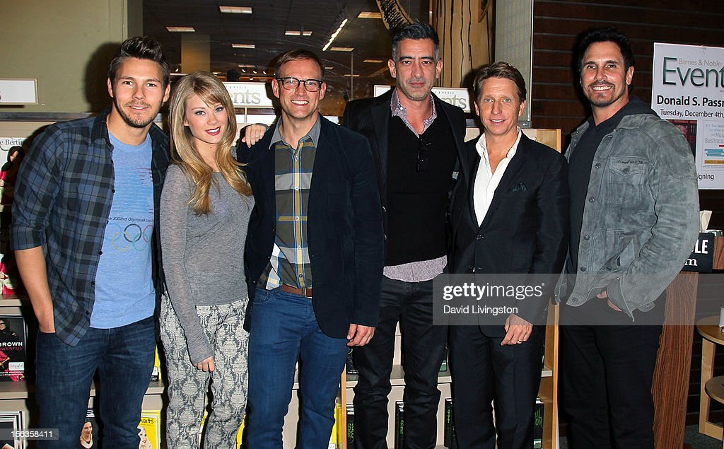 'The Bold and the Beautiful' cast members Scott Clifton and Kim Matula, authors David Gregg and Adrian Aviles, 'The Bold and the Beautiful' executive producer Bradley Bell and cast member Don Diamont attend a signing for 'Becoming Bold & Beautiful' at Barnes & Noble bookstore at The Grove on November 13, 2012 in Los Angeles, California.