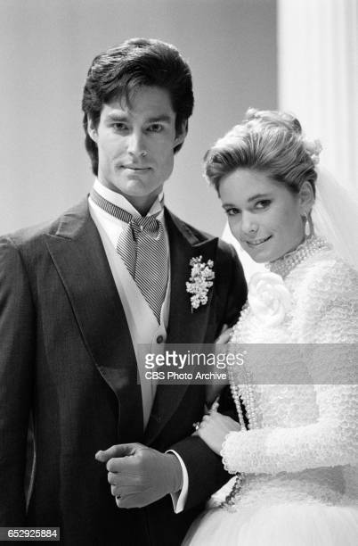 The Bold and the Beautiful, the daytime drama. A wedding photo. Ronn Moss and Joanna Johnson . Image dated March 20, 1987.