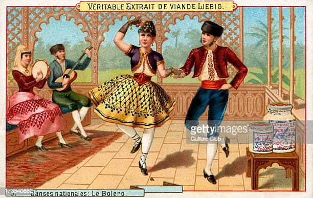 'Le Bolero' Liebig card series Danses nationales