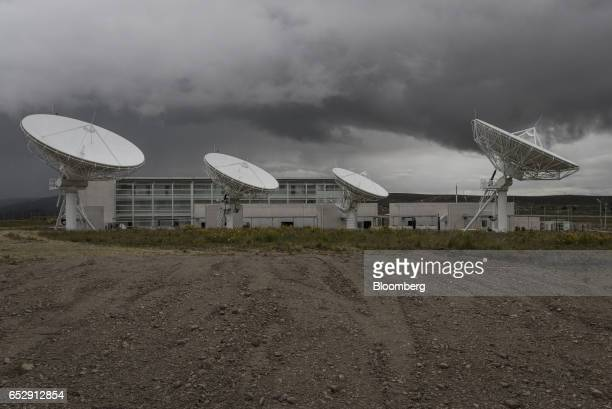 The Bolivian Space Agency Amachuma Ground Station stands in Achocalla La Paz Department Bolivia on Wednesday March 1 2017 Created in 2010 the...