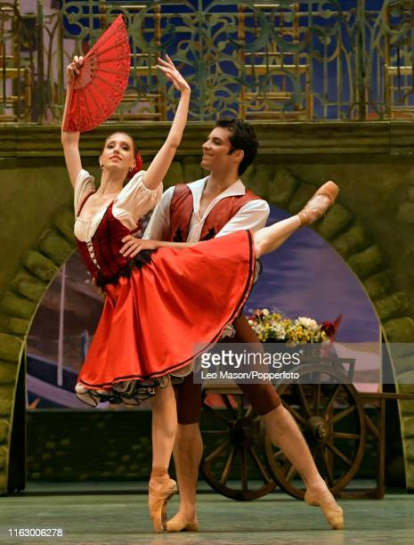The Bolshoi Ballet's Margarita Shrainer and Igor Tsvirko in the production of Don Quixote at The Royal Opera House in Covent Garden, London, England,...