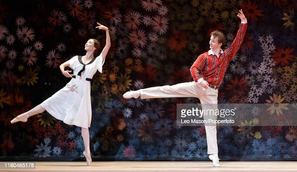 The Bolshoi Ballet's production of Alexei Ratmansky's The Bright Stream at The Royal Opera House on August 7, 2019 in London, England.