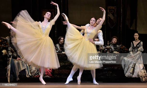The Bolshoi Ballet's production of Yuri Grigorovich's adaptation of Marius Petipa and Lev Ivanov's Swan Lake at The Royal Opera House on August 2,...